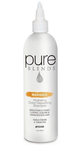 Pure Blends Hydrating Color Depositing Shampoo - Marigold (copper,auburn,warm brown tones) 8.5 Ounces
