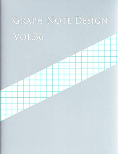 Graph Design - Graph Note Design Vol.36: 1 Square/cm, 100 pages ,50 sheets (Large, 8.5 x 11) Graph Paper with one line per centimeter on letter-sized paper