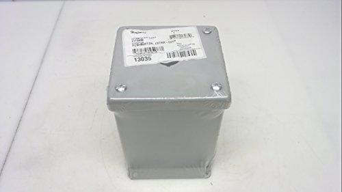Hoffman E1PBXM エンクロージャー 22.5 mm プッシュボタン、エクストラディープ、スチール、グレー