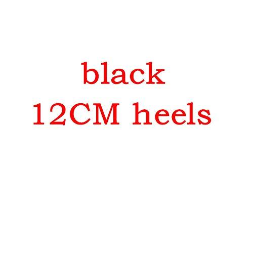 Sexy Women Thin high Heels Patent Women Pumps Party Shoes,Black Patent 12cm,11