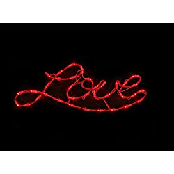 "22"" Lighted Red ""Love"" Valentine's Day Window Silhouette Decoration"