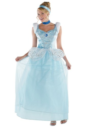Disguise Costumes Cinderella Deluxe Costume, Adult, Small (Cinderella Costumes Womens)