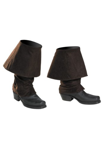 Disney Pirates Of The Caribbean Pirates Boot Covers Costume Accessory, One Size Child ()