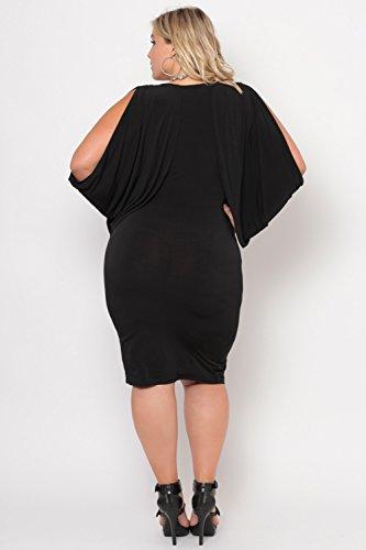 Curvy Black Shoulder Plus Size Cold Grecian Dress Sense CwC1rq7