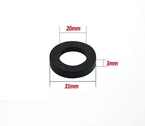 Gimax 1000pcs / lot 1'' 31mm dn25 Rubber o Ring Shower Plumbing Hose Rubber Seal Ring Gasket Standard Parts for Faucet Connector by GIMAX (Image #1)