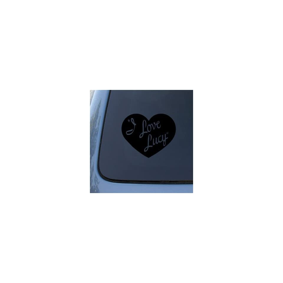 I LOVE LUCY   Lucille Ball   Vinyl Car Decal Sticker #1799  Vinyl Color Black