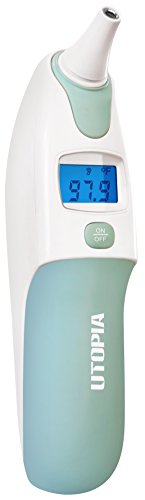 Utopia Home Digital Infrared Thermometer (Batteries not Included) - Medical Ear Function Thermometer - Accurately Reliable for Better Accuracy by Utopia Home