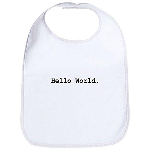 - CafePress Hello World Bib Cute Cloth Baby Bib, Toddler Bib