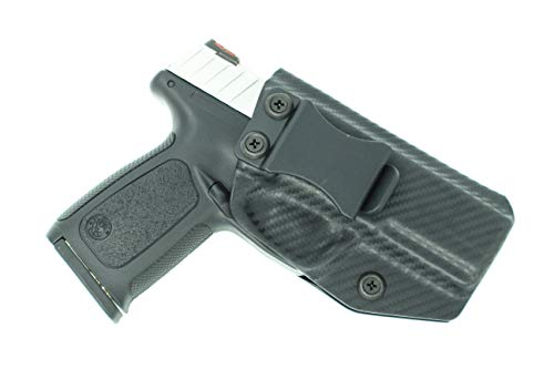 Sunsmith Holster - Compatible with Smith & Wesson SD9/40 VE Kydex IWB Inside Waistband Concealed Carry Holster Made in USA by Fast Draw USA (Carbon Fiber - Right Hand)