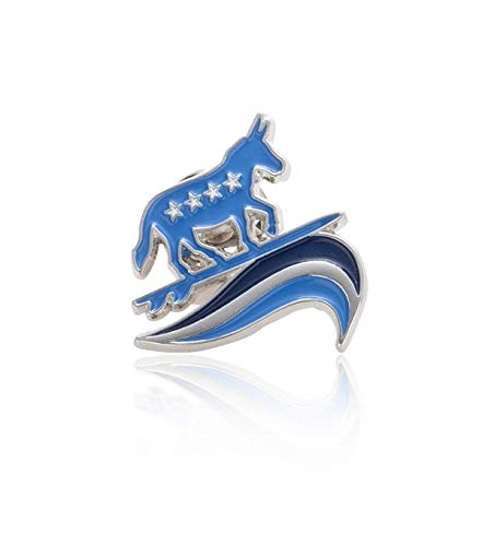 Democrat Donkey Lapel Pin (BlueWave Surfing Patriotic and Political Democrat Donkey Lapel Pin)