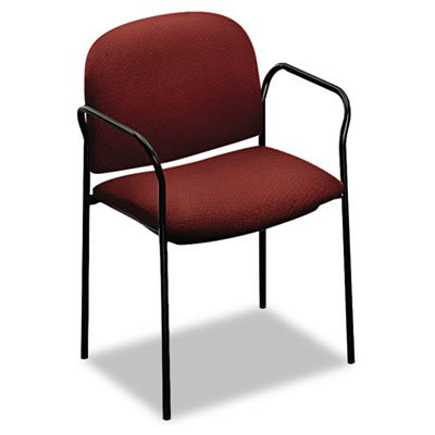 (HON 4051AB62T Multipurpose Stacking Arm Chairs, 2 per Carton, Olefin Fabric, Burgundy)