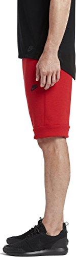 Nike M NSW TCH FLC SHORT - Kurze Hosen Rot - 2XL - Herren