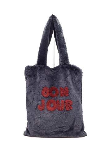Tote Dolce Cabas Formato Shopper Pelliccia Bag A4 Tendenza Donna Boemia Bolsos Moda Di Scuola Idea Grigio Tracolla Molto Regalo Finta Shopping A Angkorly Elegante v5qAwxw