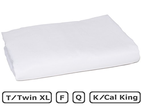 American Pillowcase Flat Sheet, 100% Percale Egyptian Cotton, 400 Thread Count, Full, White
