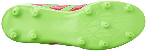 adidas Performance Ace 16.3 FG/AG J Zapatillas de fútbol (poco Kid/Big Kid) Green/Shock Pink/Black