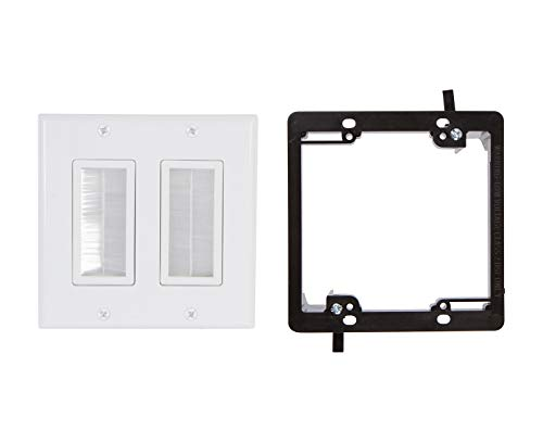 (Buyer's Point Dual Brush Wall Plate [UL Listed] (White Kit))