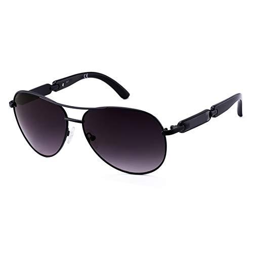 Aviator Sunglasses For Women Metal Frame Polarized Sunglasses (black) ()