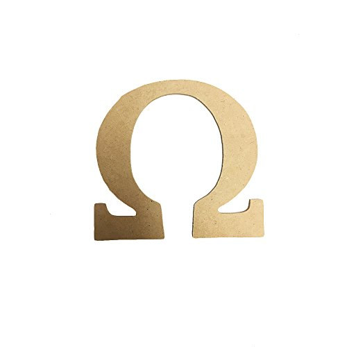 Omega 7.5 Inch or 12 Inch Greek Fraternity/Sorority Wood Letters (Omega Wood)
