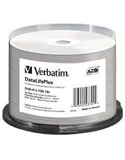 Verbatim DVD-R 4.7 GB - 16x brandsnelheid, DataLifePlus, bedrukbaar, 50 Pack Spindle