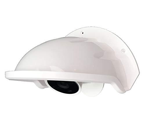 (Universal Sun Rain Shade Camera Cover Shield for Nest/Ring/Arlo/Dome/Bullet Outdoor Camera - White)