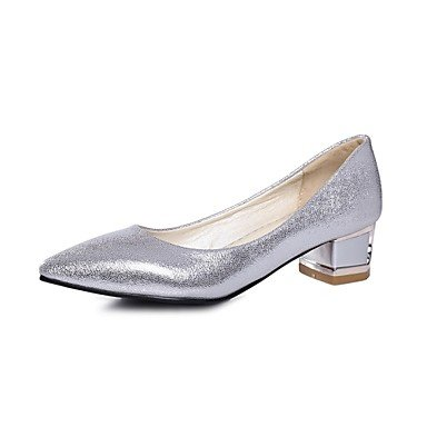 Silver EU41 Women'S UK7 5 CN42 Office Chunky 10 Heels amp;Amp; 8 Glitter Pointed Shoes US9 5 Heel Gold Toe Zormey Career Dress Red OdqUU