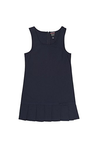 French Toast Little Girls' Pleated Hem Jumper, Navy, 6 by French Toast