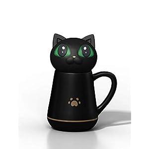 Tasse à Café avec Couvercle en Silicone Souple et Mignon en Forme du Chat Pétrissable et Compressible Cadeaux Créatifs…