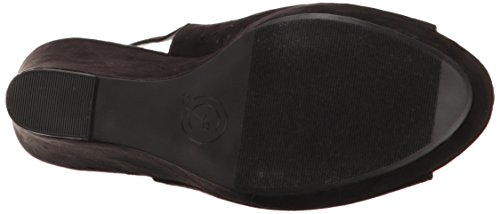 Chinese Laundry Women's Matilda Wedge Sandal, Black Black Suede