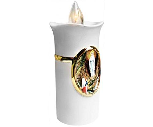 Lampe veilleuse 13X5cm - Notre Dame de Lourdes / Apparition de la Vierge Marie - Luminaire de chambre Christ-en-or