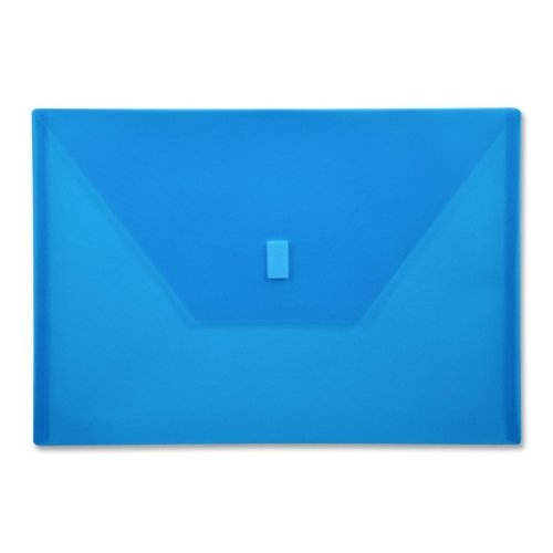 Wholesale CASE of 25 - Lion Hook and Loop Closure Poly Envelopes-Poly Envelope,Hook and Loop Closure,13''x9-3/8'',Blue