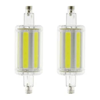 JKLcom R7S LED Bulbs R7S 78mm COB LED Bulbs 78mm R7S COB LED Bulbs 8W Cool White LED Light Bulb J Type Double Ended Flood Light Bulb,70W R7S J78 Halogen ...