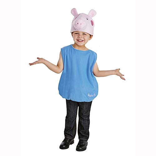 Boy's George Pig Costume 3T/4T Blue ()