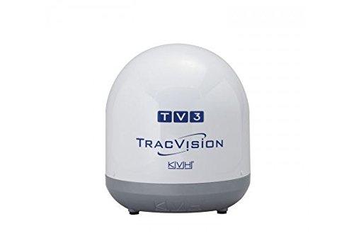 Tracvision Satellite Dish - KVH Industries 01-0368-02 TracVision TV3 w/IP-TV Hub Boating Antennas