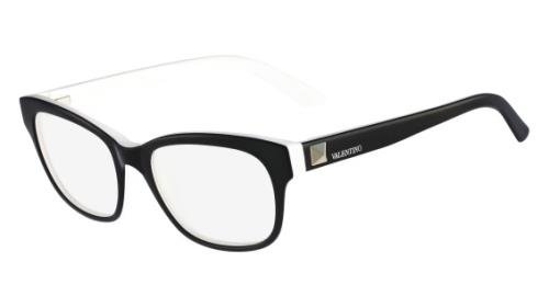 VALENTINO Eyeglasses V2671 015 Black White - Valentino Glasses Eye