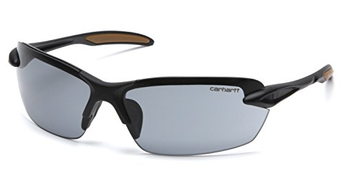 Carhartt CHB320DCC Spokane SAFETY Glasses,, Black Frame, Gray - Sunglasses Spokane