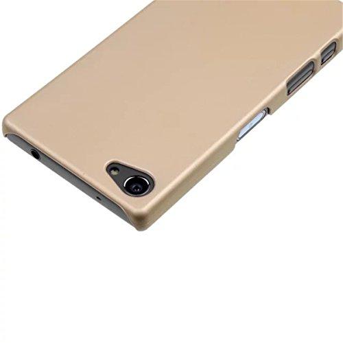 Xperia Z5 Compact Z5 MINI funda , Sony Xperia Z5 Compact Z5 MINI funda , Lifetrut® [ oro ] [Slim Fit] Prima de goma colorido de la manera dura mate cubierta de la caja protectora de goma antideslizant