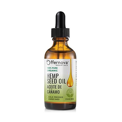 Cannabis Sativa Seed Oil - Organic Hemp Seed Oil 100% Pure - Aceite de Cáñamo Virgen -Cold Pressed Prensado en Frio (Best Oil For Cannabis)