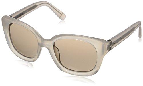 Bobbi Brown Women's The Carmen Square Sunglasses, Milky Beige & Brown Mirror, 52 - Sunglasses Carmen