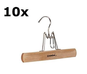 pieperconcept 10x Union 5 Brazil Hosenhalter Hosenbügel Hosenklemmbügel Setpreis