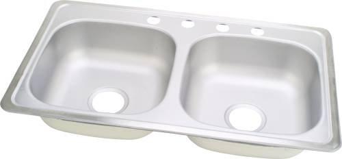 Sterling-Kohler Co 107003 Mobile Home Kitchen Sink-Stainless Steel by Barnett