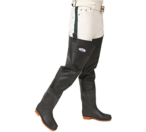 YAANCUN Fishing Fully Waterproof Pair of Hip Thigh Waders PVC Boots for Fishing Hunting