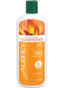 Aubrey Organics White Camellia Conditioner - Frizz Ease Conditoner - Moisturizing Argan Oil, Olive Oil and Aloe Vera * NSF Certified Organic - 11oz Aubrey White Conditioner