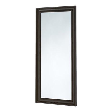 Specchi Con Cornice Ikea.Ikea Hemnes Specchio In Schwarzbraun Con Cornice In Legno Massiccio