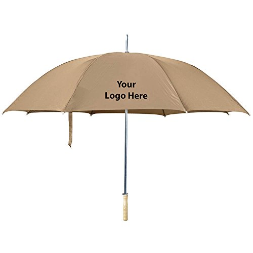 48'' Arc Umbrella - 25 Quantity - $8.69 Each - PROMOTIONAL PRODUCT / BULK / BRANDED with YOUR LOGO / CUSTOMIZED by Sunrise Identity