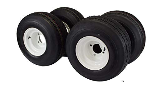18×8.50-8 with 8×7 White Assembly for Golf Cart and Lawn Mower (Set of 4)