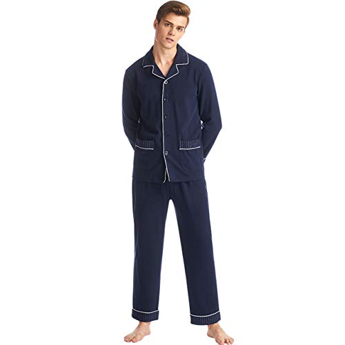 (SANQIANG Men's Red Plaid Long Sleeves Sleepwear Soft Button-Down PJ Set with Pants (US Size L (Tag Reads 2XL), Old)