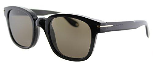 Givenchy GV 7000 807 Black Plastic Square Sunglasses Brown ()
