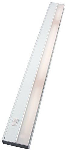 GE Premium 36 Inch Fluorescent Under Cabinet Light Fixture, Direct Wire, Warm White, Steel Housing, On/Off Switch, No Hum, Flicker Free, Ideal for Kitchen, Office, Garage, Workbench and more, 10142
