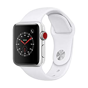 Apple Watch Series 3 (GPS + Cellular, 38mm) – Silver Aluminium Case with White Sport Band