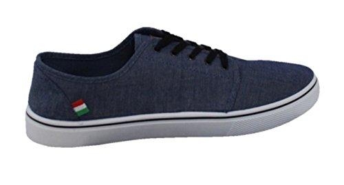 Duke Azul Cordones Hombre de D555 Zapatos Para 8pwqZ48